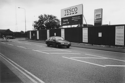 The Tesco store in Brigg under construction n the late 1990s - see Nigel Fisher's Brigg Blog