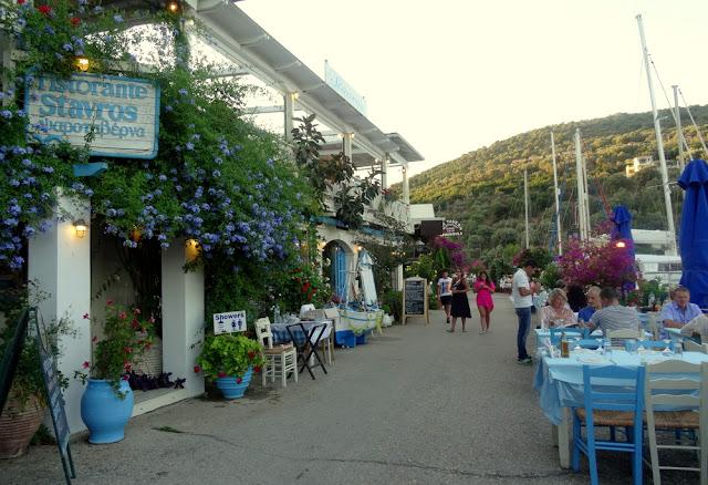 Lefkada, Greece: Dinner at Taverna Stavros in Sivota