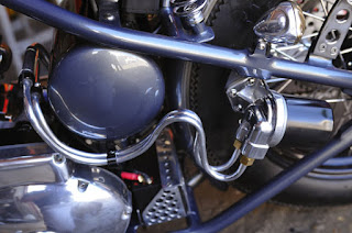 rusthless racer ironhead 1000 bobber by graffi bike oil tank