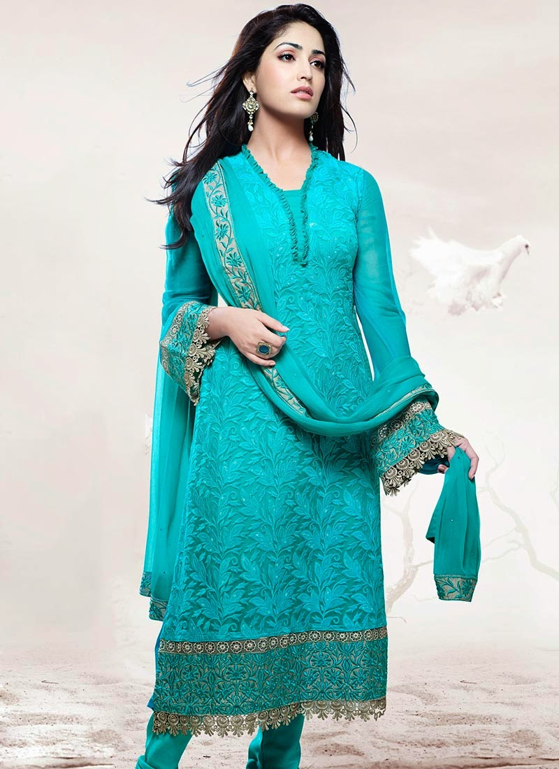 Yami Gautam's Embroidered Churidar Suits - missy lovesx3