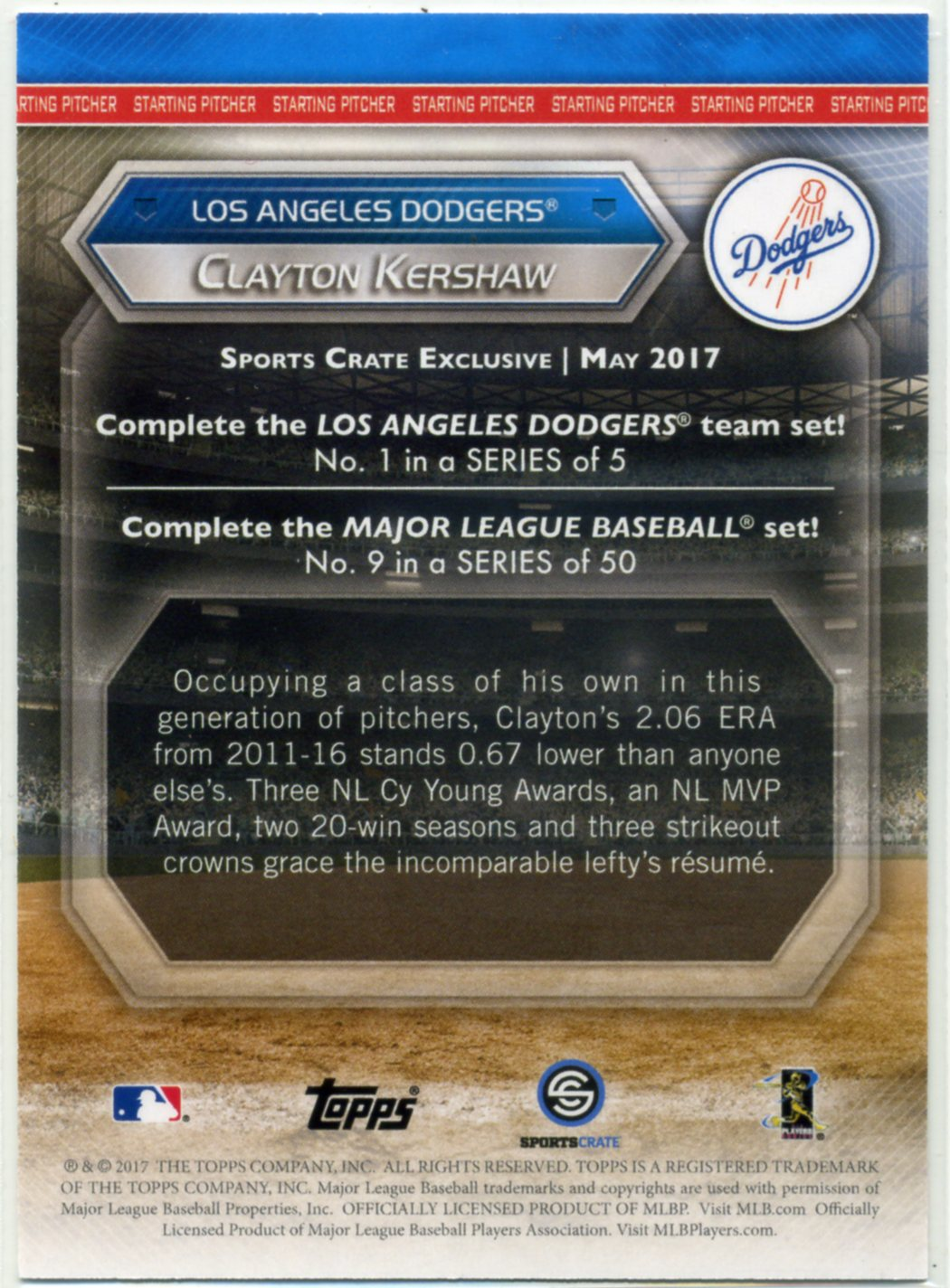 Dodgers Blue Heaven 2017 Dodgers Sports Crate May Edition