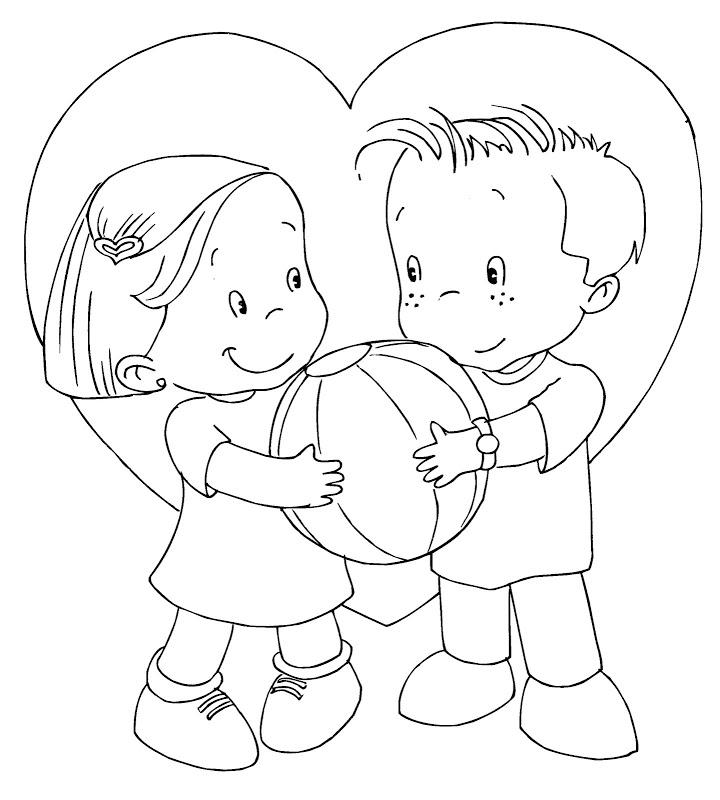 14 De Febrero Día De San Valentín Dibujos Para Colorear Ciclo