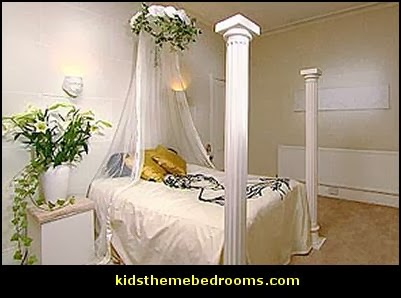 mythology theme bedrooms - greek theme room - roman theme rooms - angelic heavenly realm theme decorating ideas - Greek Mythology Decorations - heavenly wall murals - asngel wings decor - angel theme bedrooms