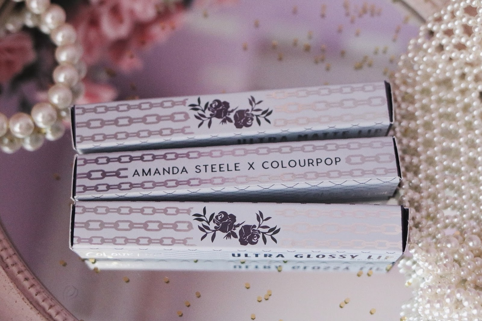 rosemademoiselle , rose mademoiselle , COLOURPOP , COLLABORATION , AMANDA STEELE , colourpopxamandasteele,maquillage ,makeup, ignition , steele , chaps , hack , jiffy , ultra satin lips , ultra matte lips , ultra glossy lips , super shock shadow,glitters , glitters eyes , revue , avis, paris , blog beauté