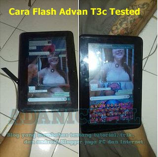 Cara Flash Advan T3c Tested