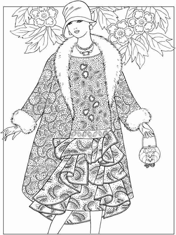 9 flower fashion for valentines coloring pages