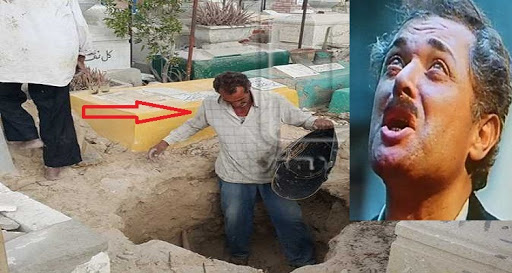 تصرف غريب جدا من التربي «عم حبشي» الذي جهز قبر محمود عبد العزير