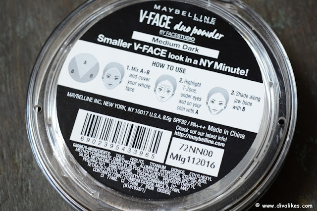 Maybelline Face Studio V-Face Duo Powder Medium Dark Ingredients