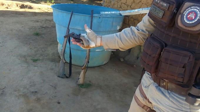 Polícia Militar apreende armas no município de Mirangaba