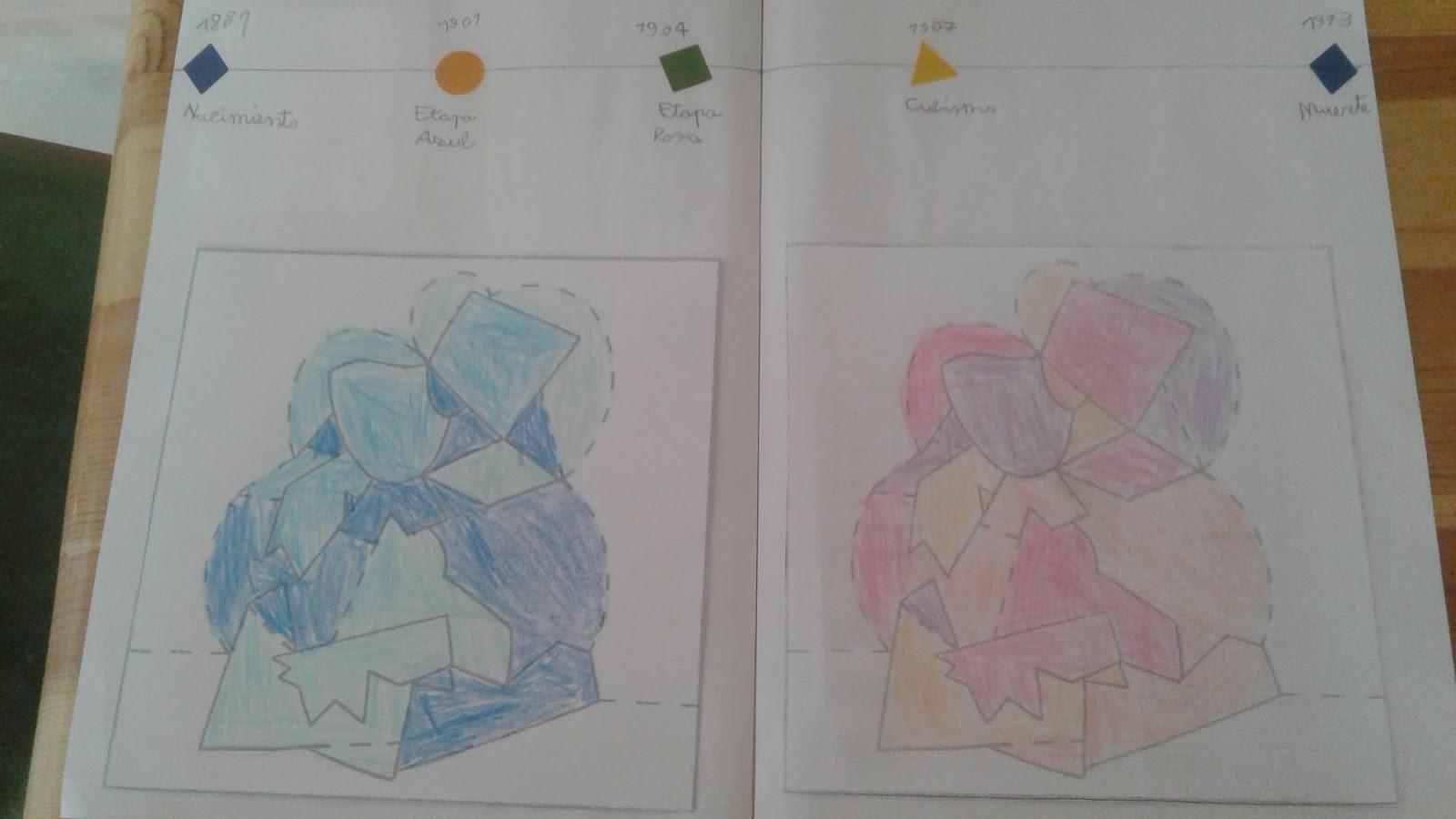 Los viernes no hay clase: Lapbook de Picasso