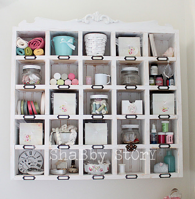 All About the Furniture: Wall Shelves - Craft Storage Ideas