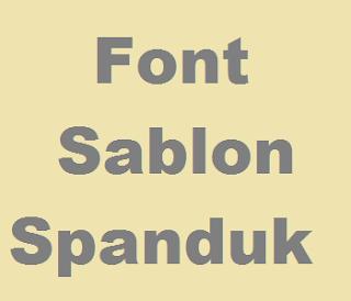 Font Sablon Spanduk