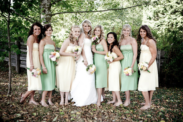 mismatched bridesmaids and tips on how to treat your bridesmaids