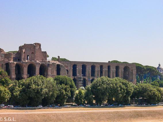 Palatino desde el circo Máximo. Roma
