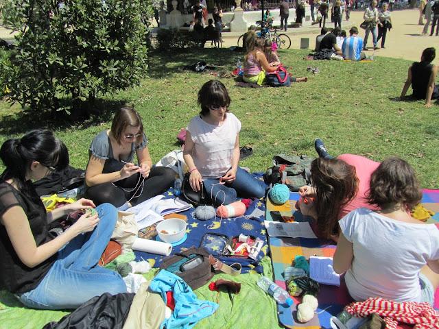 Tejiendo en el Parc de la Ciutadella