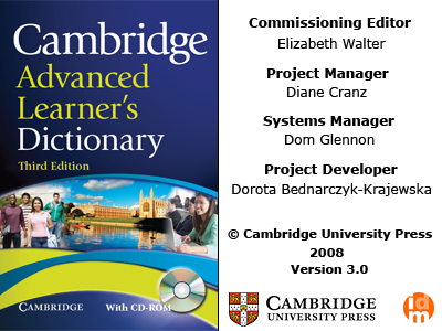 Cambridge Advance Learner's Dictionary 3rd Edition Exe