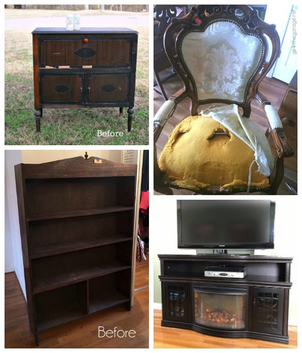 Before Pictures of Furniture Fixer Upper Group Makeovers