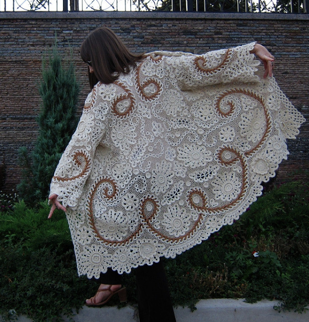 Inspiracion Aplique Trenzado de Crochet