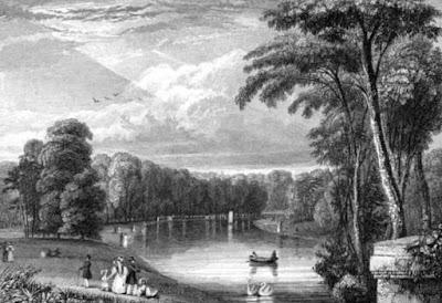 Kensington Gardens  from Views in Kensington Gardens by J Sargeant (1831)