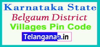 Belgaum District Pin Codes in Karnataka State