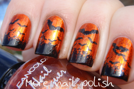 "Bats - ""This is Halloween Nail Art Challenge"" ~ More Nail ..."