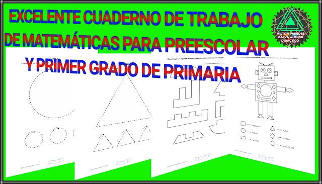 CUADERNO DE TRABAJO DE MATEMÁTICAS-PREESCOLAR Y PRIMER GRADO DE PRIMARIA