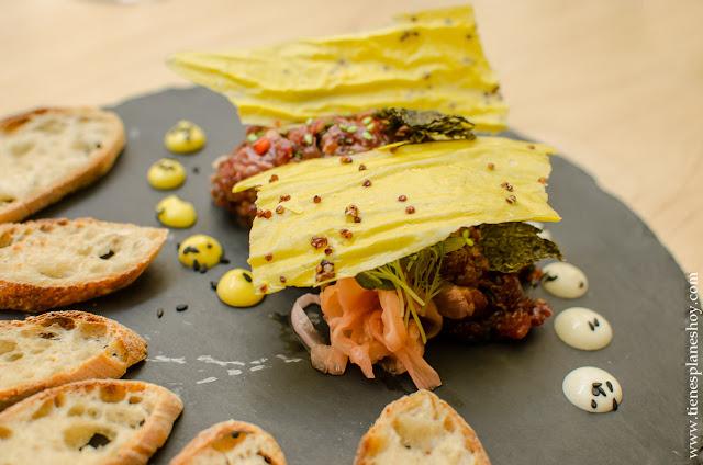 Tartar solomillo japones restaurante Navaja Madrid