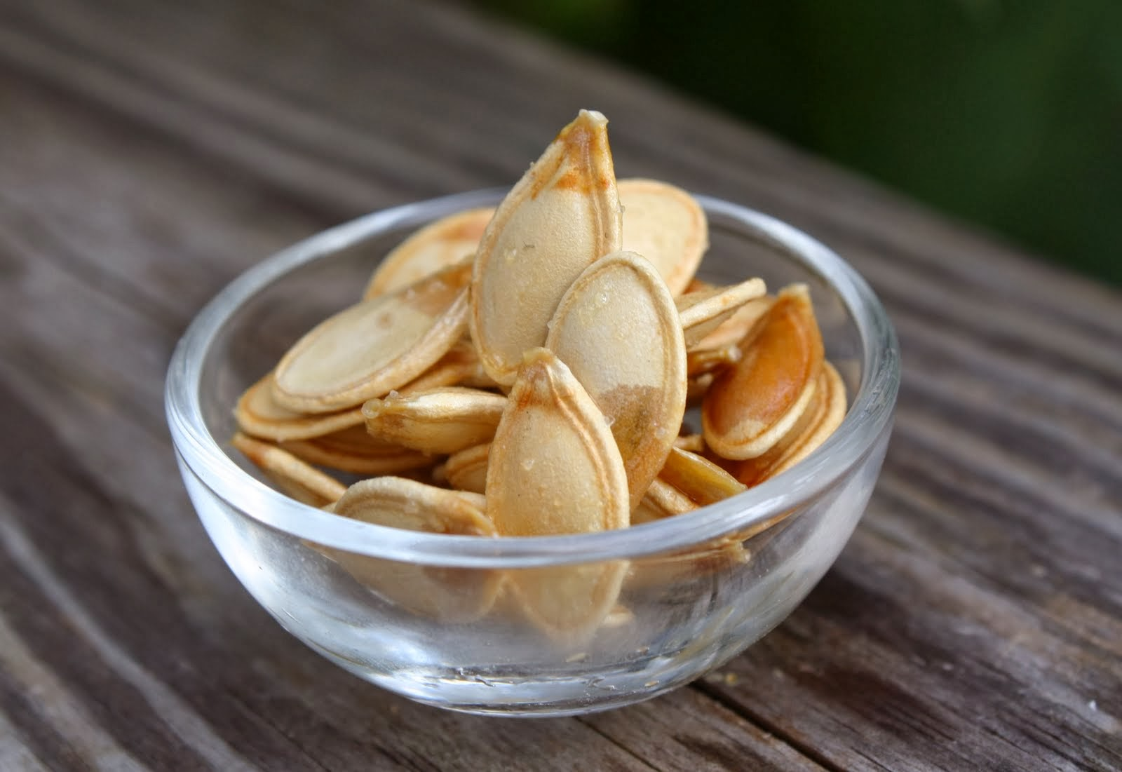 Pumpkin seeds in a bowl
