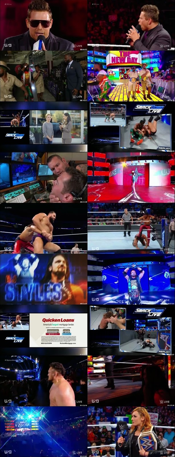 Screen Shot Of WWE SmackDown Live 18th September 2018 HDTV 480P 300MB