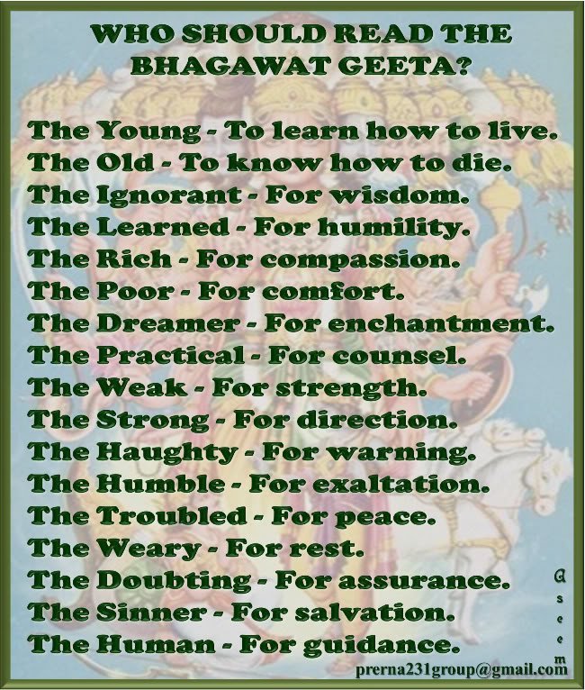 Bhagavad Gita : Lord Krishna And His Teachings On