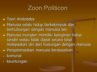 Pengertian Zoon Politicon dari Aristoteles tentang Makhluk Sosial