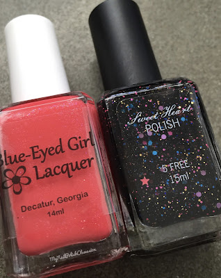 Destination Duo, March 2016; Blue Eyed Girl Lacquer & Sweet Heart Polish