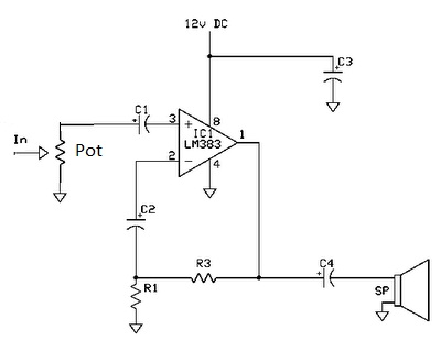 Skema Rangkaian Amplifier 8 Watt ~ Road To Heaven