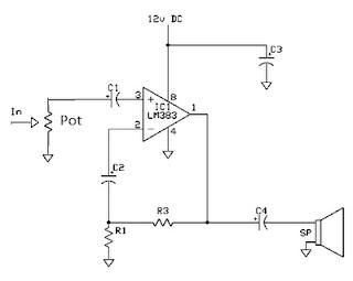 Skema Rangkaian Amplifier 8 Watt