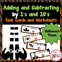 Halloween add and subtract by 1s and 10s