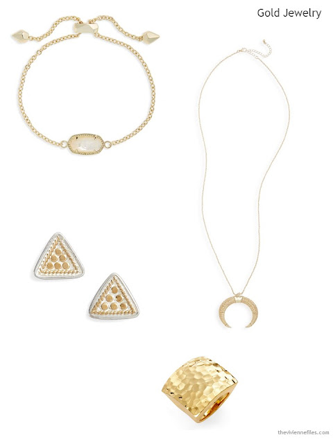4 pieces of gold jewelry for Summer 2017