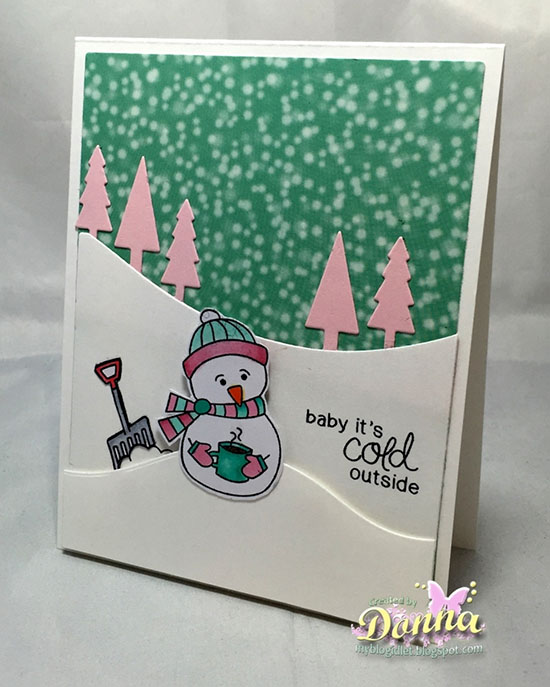 Snowman card by Donna Idlet | Frozen Friends Stamp set by Newton's Nook Designs #newtonsnook