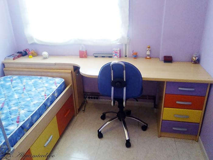 Antes y despu s de dos habitaciones infantiles gracias a - Tablero para escritorio ...