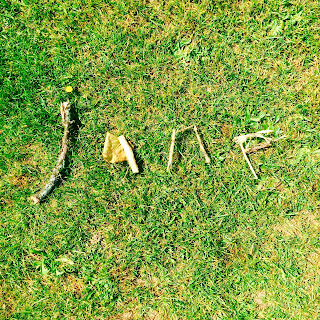 Jane spelled using sticks on the grass