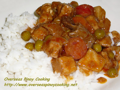 Pork Menudo with Rice