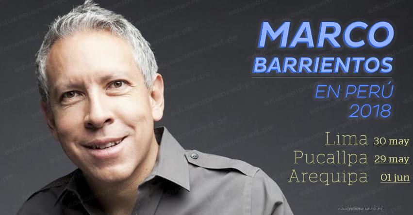 MARCO BARRIENTOS EN PERÚ 2018: Cantautor de Música Cristiana presentará conciertos en Lima - Pucallpa y Arequipa (Precios y Venta de Entradas en Teleticket)