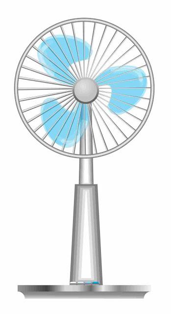 扇風機のイラスト。