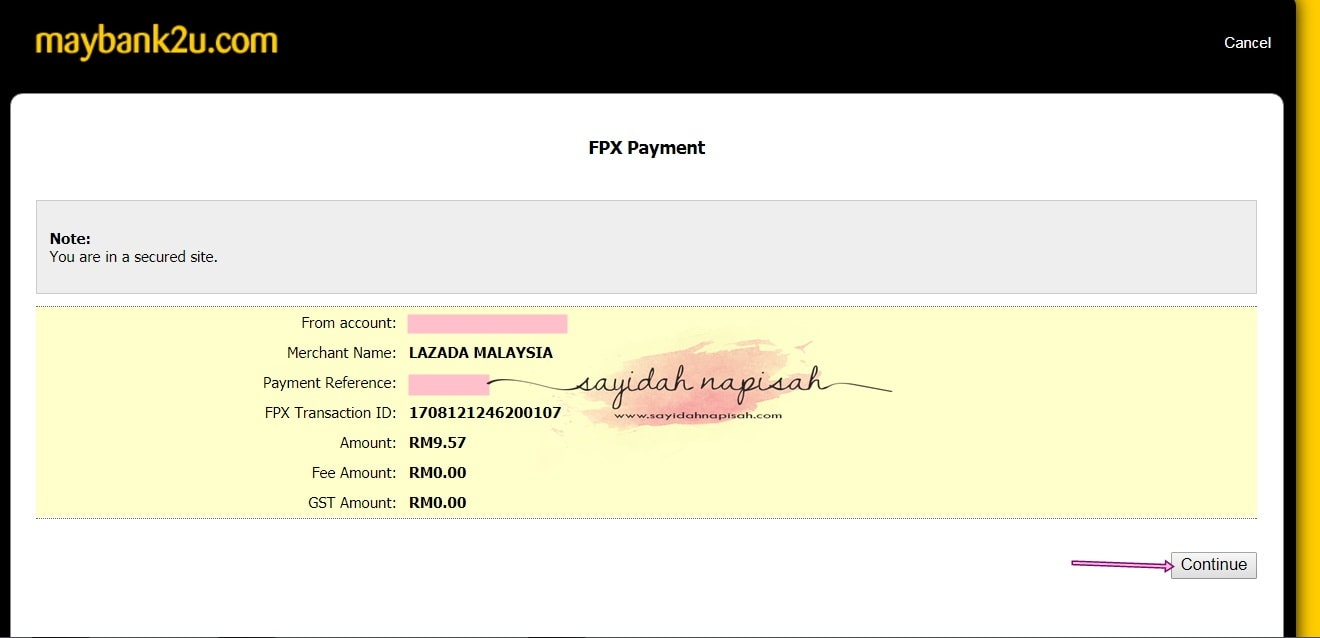 done order 6 barang dengan voucher RM100 Lazada