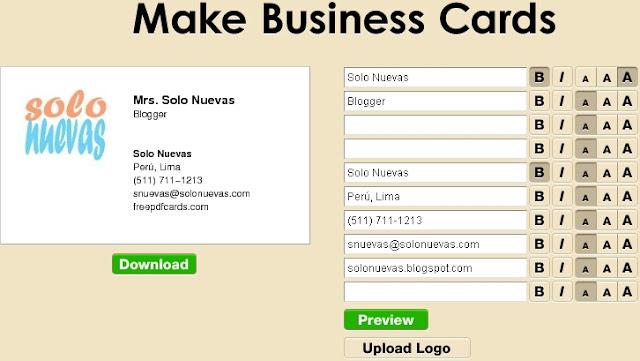 Crear tarjetas personales en linea y gratis en [freepdfcards.com]