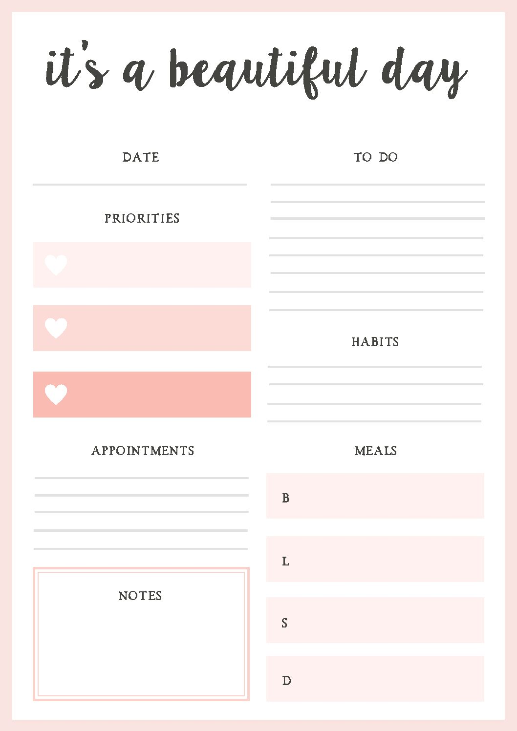 Free Printable Daily Planner 2019 Cablo Commongroundsapex Co