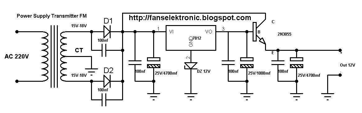 kumpulan skema rangkaian adaptor power supply trafo