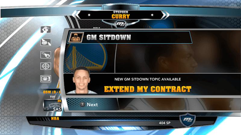 NBA 2k14 MyCareer Mod : Stephen Curry - hoopsvilla