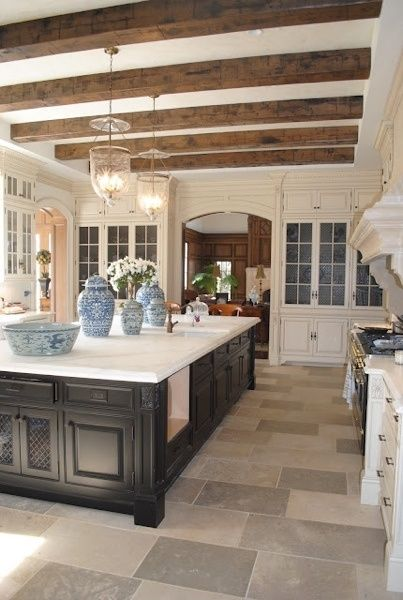 Kitchen with Wood Beams- From My Front Porch To Yours