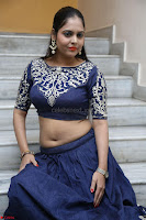 Ruchi Pandey in Blue Embrodiery Choli ghagra at Idem Deyyam music launch ~ Celebrities Exclusive Galleries 044.JPG