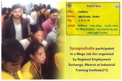 SynapseIndia participated in Mega Job fair at ITI